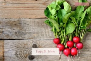 Gemüseblätter sind oft gesund