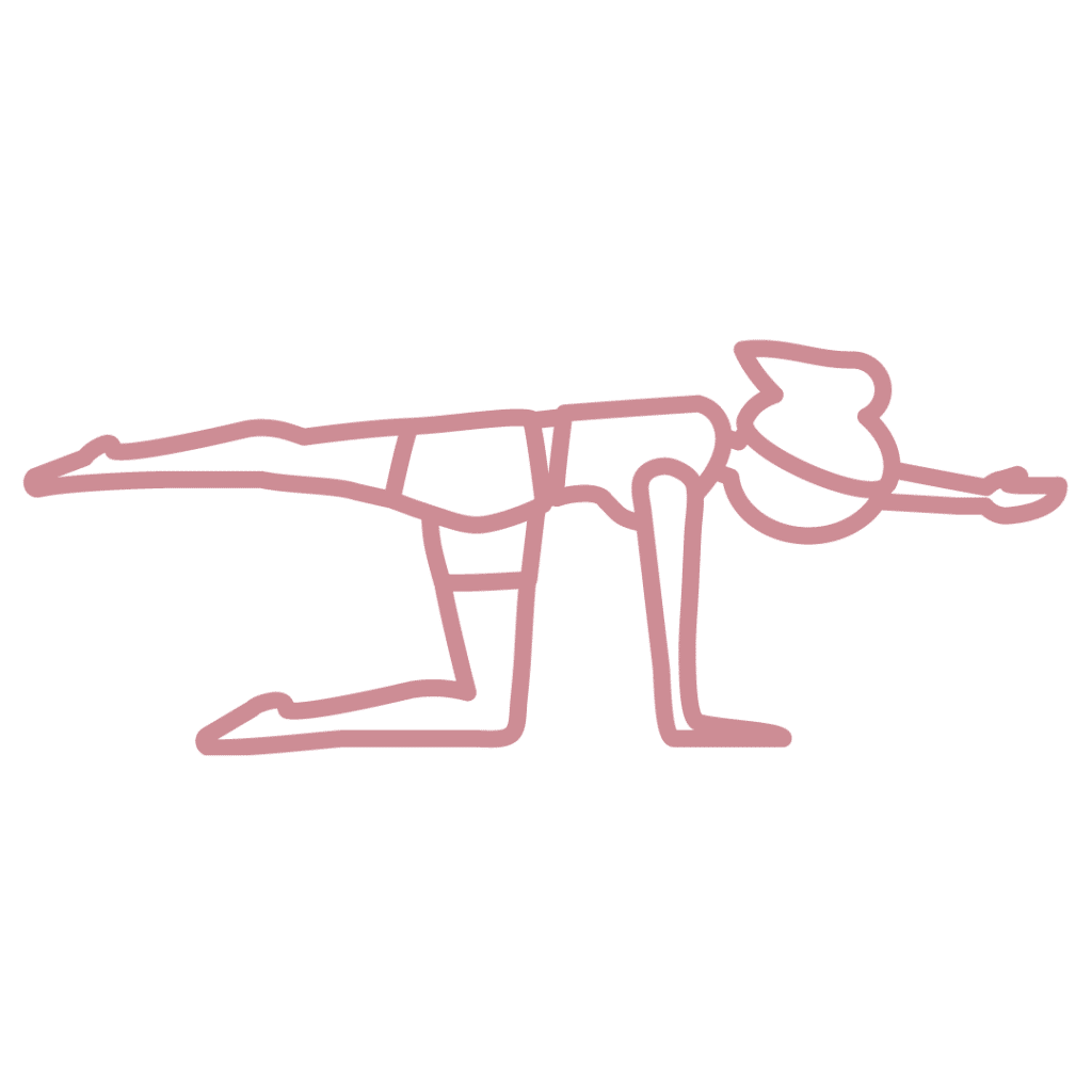 Beckenbodenübung Diagonale