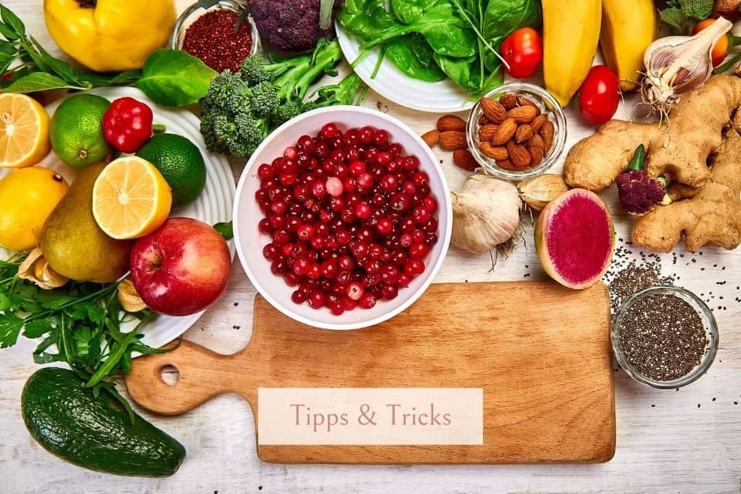 Nährstoffe in den Wechseljahren in Lebensmitteln