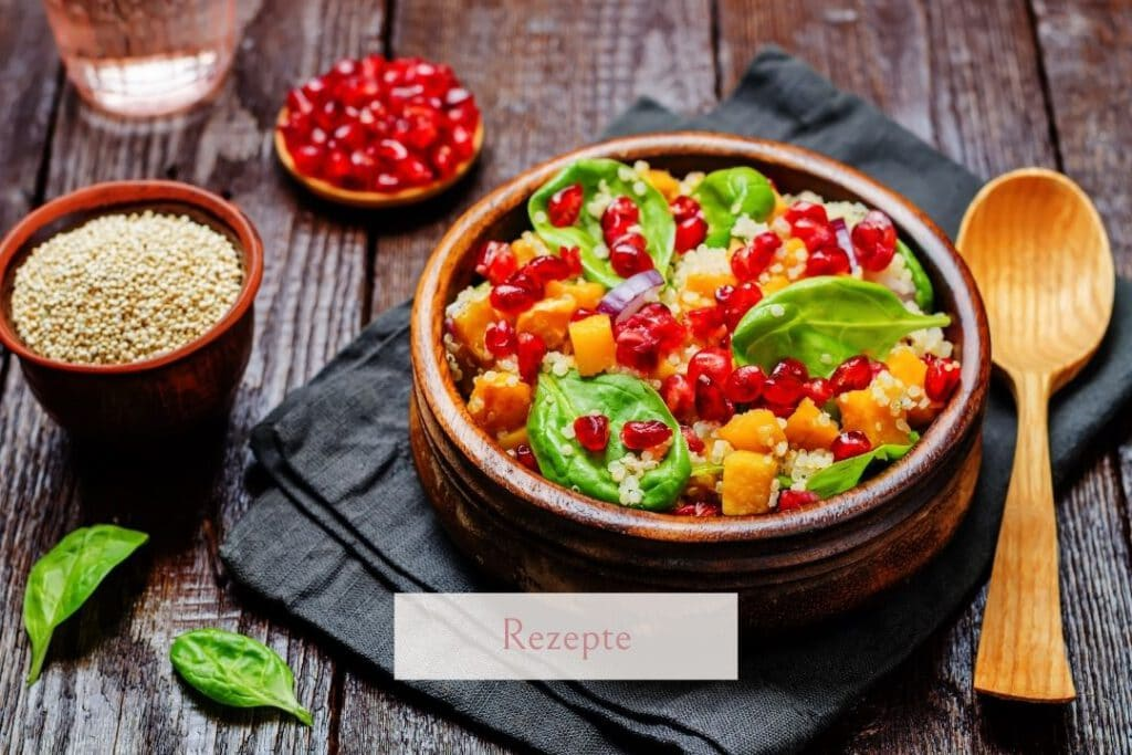 Fitness Salat mit Granatapfelkernen